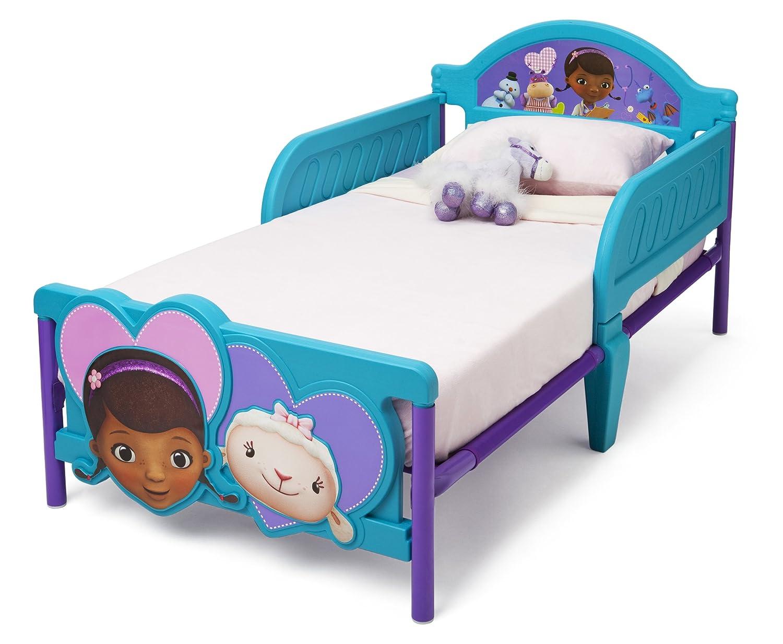 amazoncom delta children 3dfootboard toddler bed disney junior doc mcstuffins childrens furniture baby