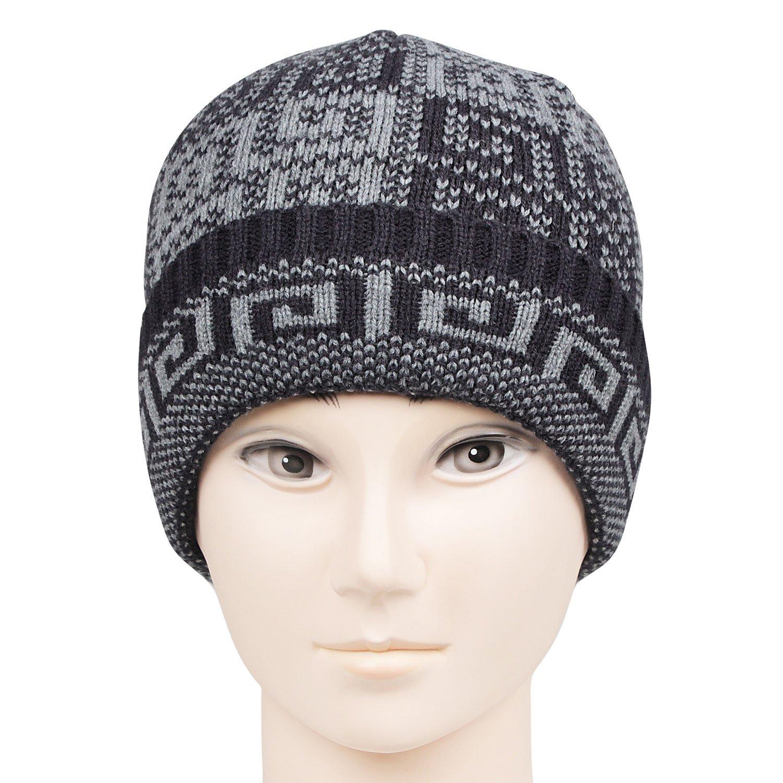 29ef12ac7b161 Bonjour Mens Designer Woolen Knitted Skull Cap  Amazon.in  Clothing    Accessories