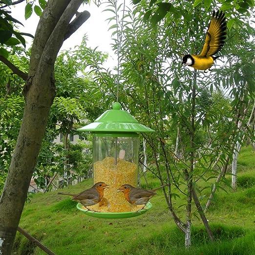 Alimento para pájaros, para exteriores, jardines, comederos de pájaros en el interior, comida para pájaros con contenedores, 17 × 17 × 23 cm: Amazon.es: Jardín