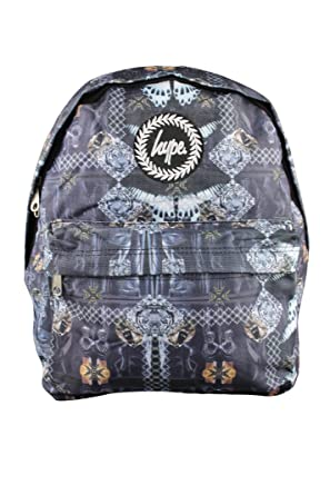 40850a0be8 HYPE JUST HYPE Black Pattern Backpack Rucksack Bag  Amazon.co.uk ...