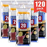 AROIC Paint Brushes Set,120 pcs Nylon Hair Brushes for Acrylic Oil Watercolor Artist Professional Painting Kits