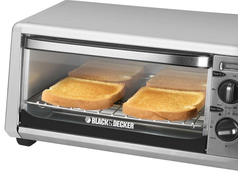 Amazon BLACK DECKER TO1430S 4 Slice Toaster Oven Stainless