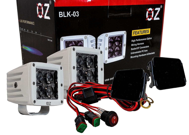 Blk Series 3 Black Pod Led Lights Spot Beam White Kentucky Wiring Harness Automotive