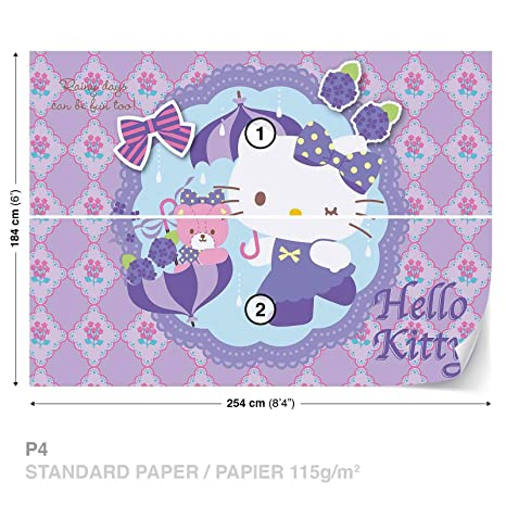 Hello Kitty Wall Mural Photo Wallpaper Room Decor 1805ws