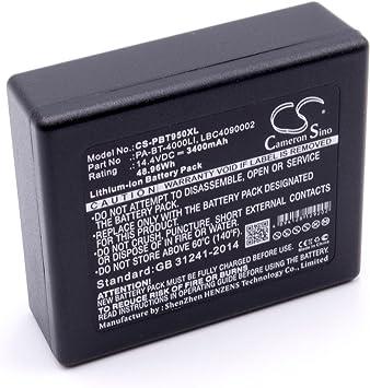 vhbw Li-Ion batería 3400mAh (14.4V) para Impresora copiadora escáner Impresora de Etiquetas Brother RuggedJet RJ4030, RJ4030-K, RJ4040, RJ4040-K: Amazon.es: Electrónica