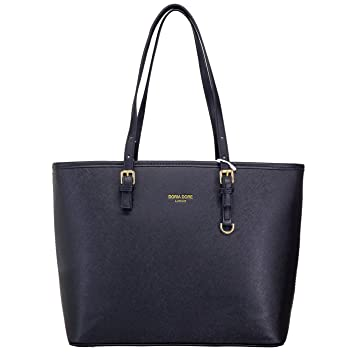 Amazon.com: Black Large Tote Bag DORIA DORE Women Handbag Shoulder Bags: Outnice