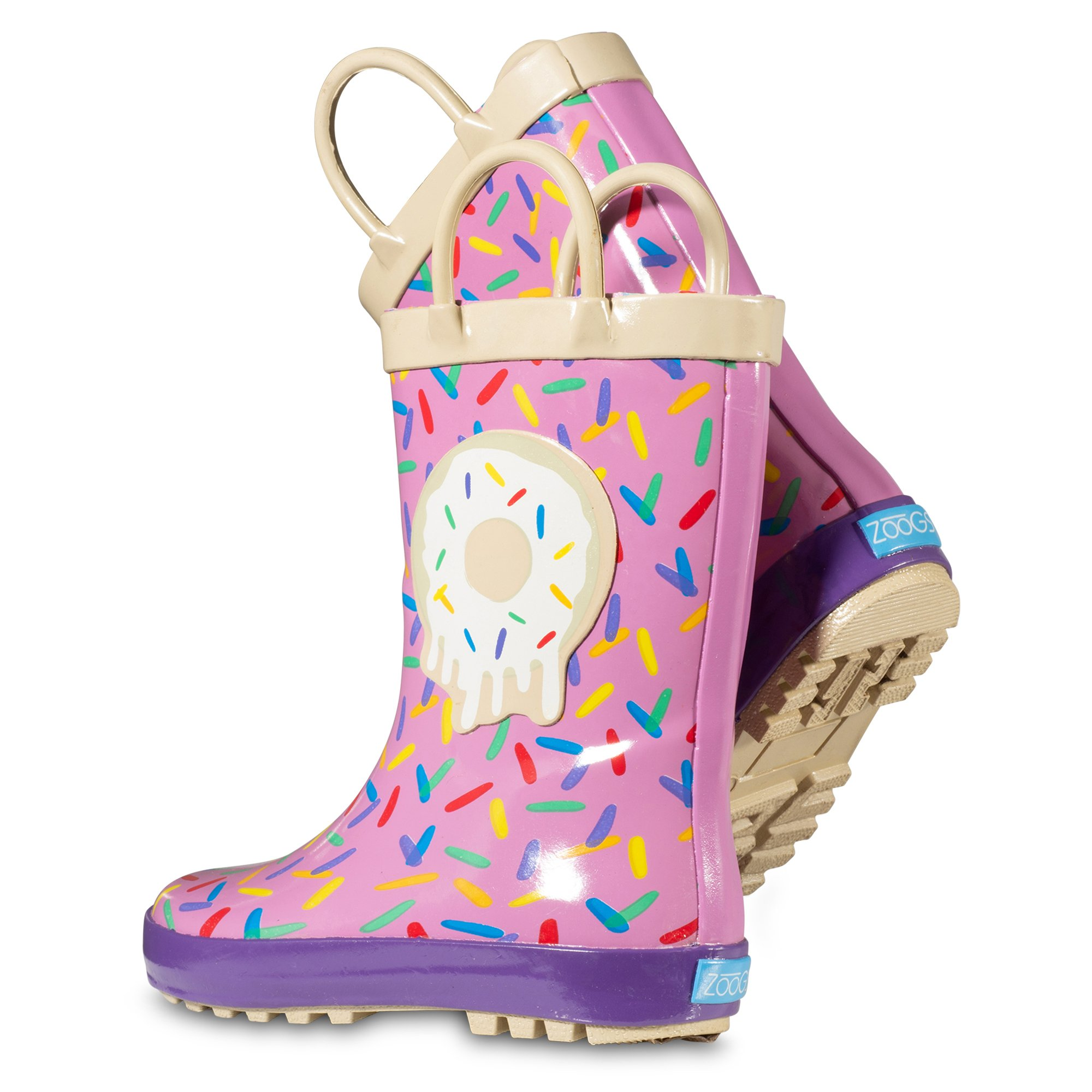 ZOOGS Children's Rubber Rain Boots, Little Kids & Toddler, Boys & Girls Patterns by ZOOGS (Image #4)