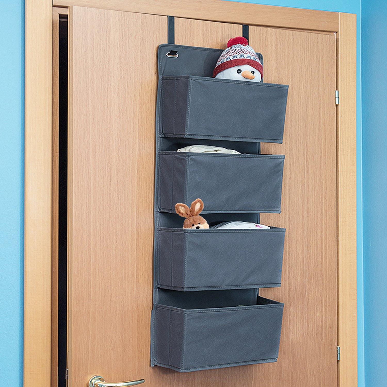 Tatkraft Cozy Over Door Hanging Fabric Organizer 4-Tier Others
