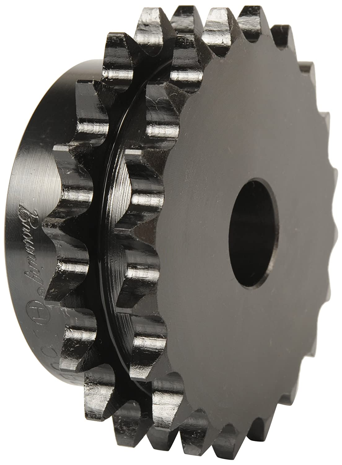 Browning D80B30 Minimum Bore Double Roller Chain Sprocket, 2 Strands, Steel, 1' Stocked Bore, 30 Teeth 1 Stocked Bore Emerson