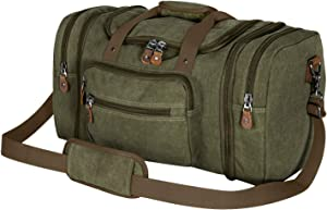 Plambag Canvas Duffle Bag for Travel, Oversized Duffel Overnight Weekend Bag(Army Green)