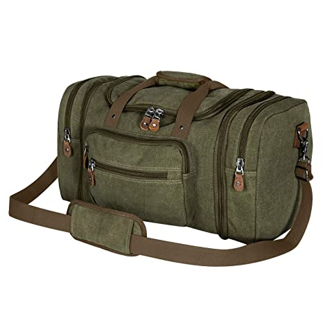Amazon.com  Plambag Canvas Duffle Bag for Travel 77d615bff0be1