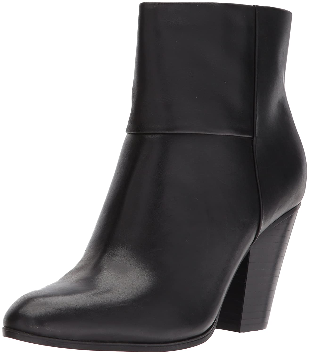 Nine West Women's Hollie Leather Ankle Boot B071S37H53 11 B(M) US|Black Leather