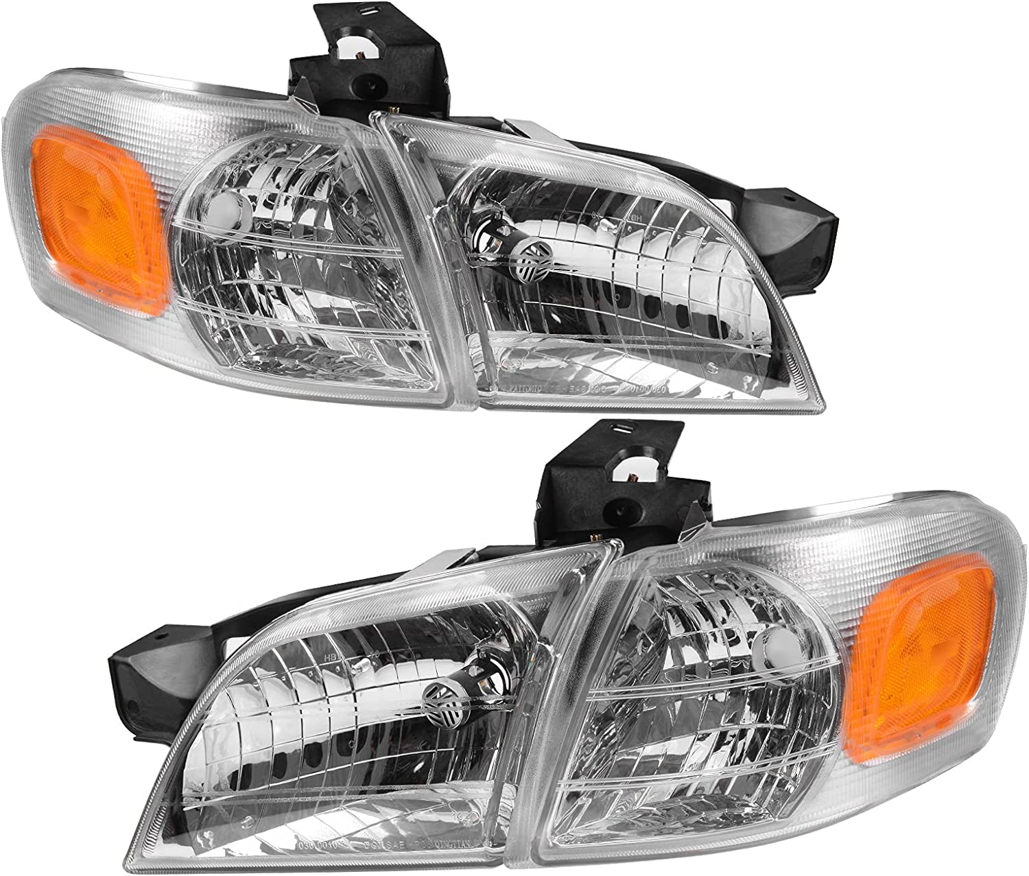 AUTOSAVER88 Under blast sales Headlight Assembly Compatible 1997-2005 Ranking TOP8 V Chevy with