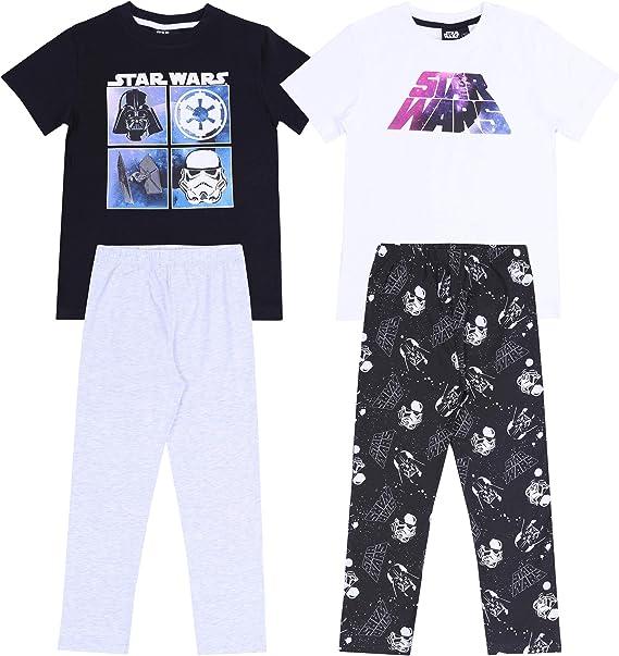 Star Wars -:- Disney -:- 2 x Pijama Negro y Gris 11-12 Años ...