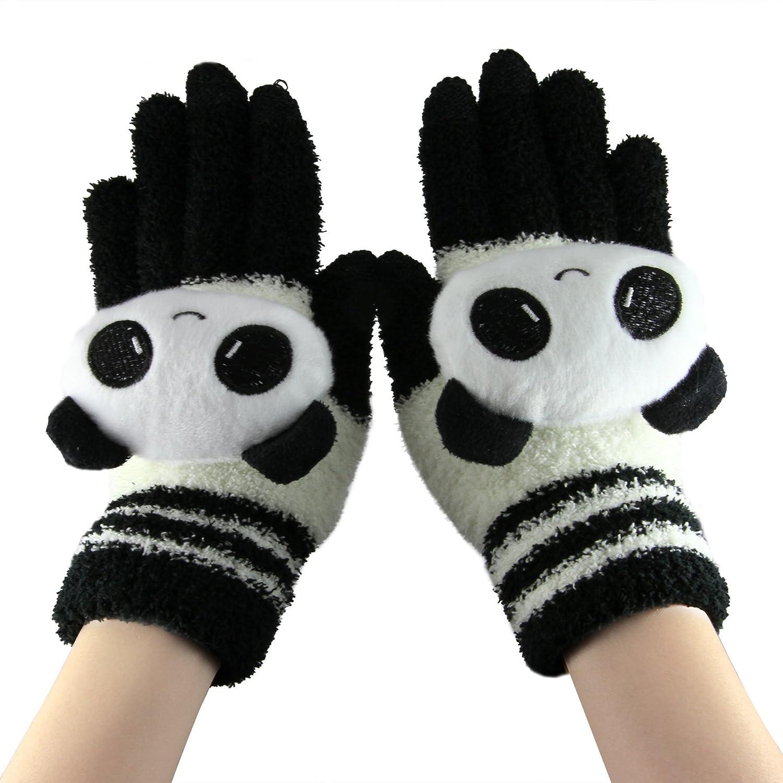 ... de mujeres Guantes de brazo más cálidas para las niñas, señoras, mujeres, mujeres, regalos de Navidad, regalos de cumpleaños, etc. (negro gato blanco)