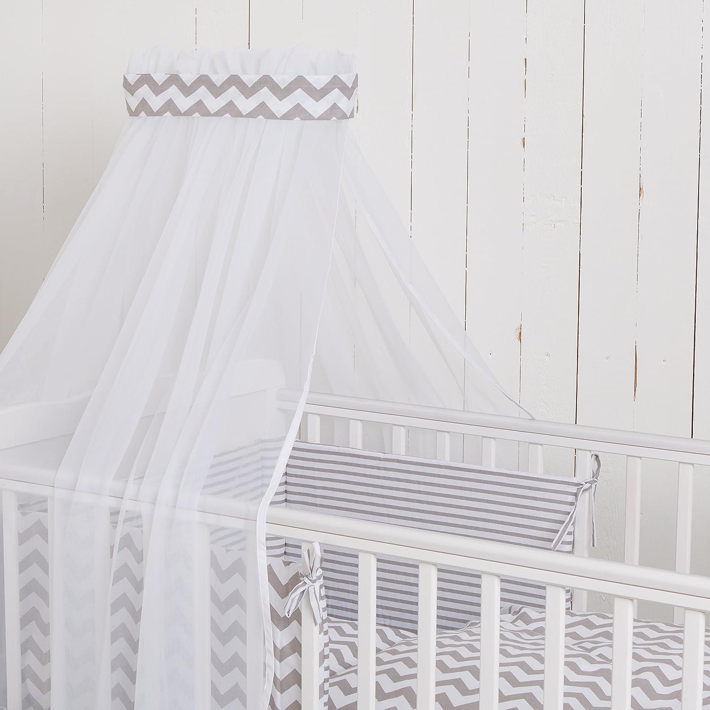 Puckdaddy Baby Bett-Set Chevron//Streifen