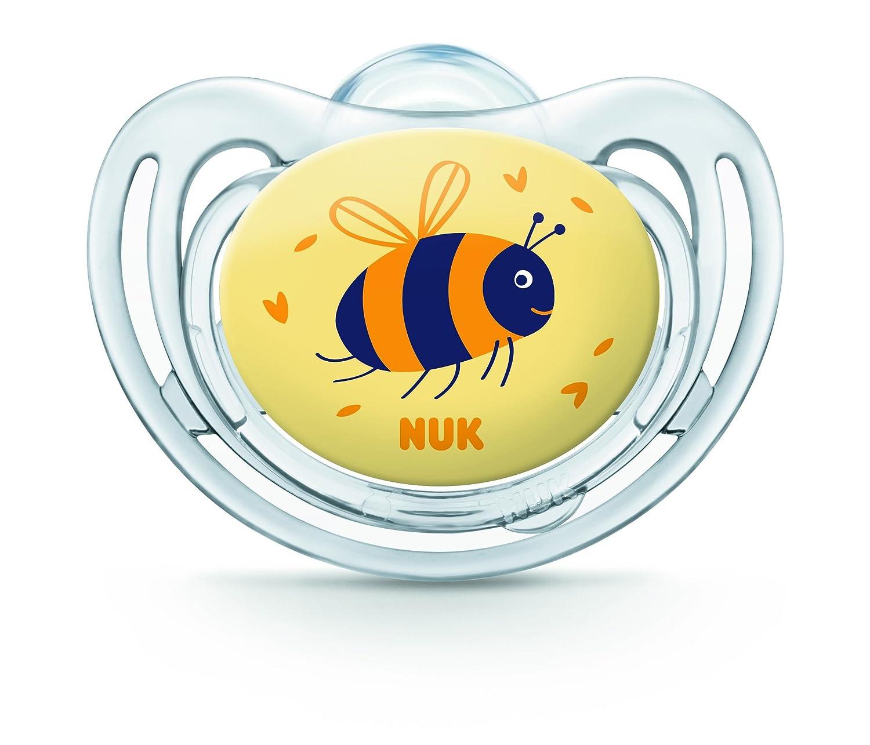 NUK Freestyle Set de 2 chupetes para niña talla 1 Talla:0 a 6 meses