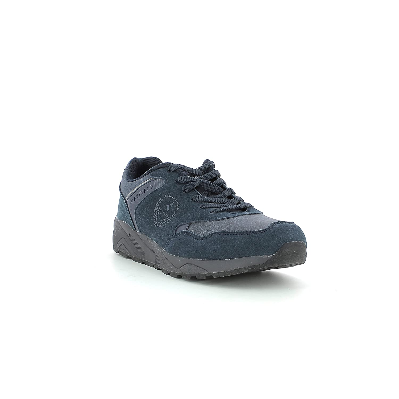 Navigare Scarpe Moda Uomo Sneakers Pelle Scamosciata Suola Gomma 722763 (40, Nero)
