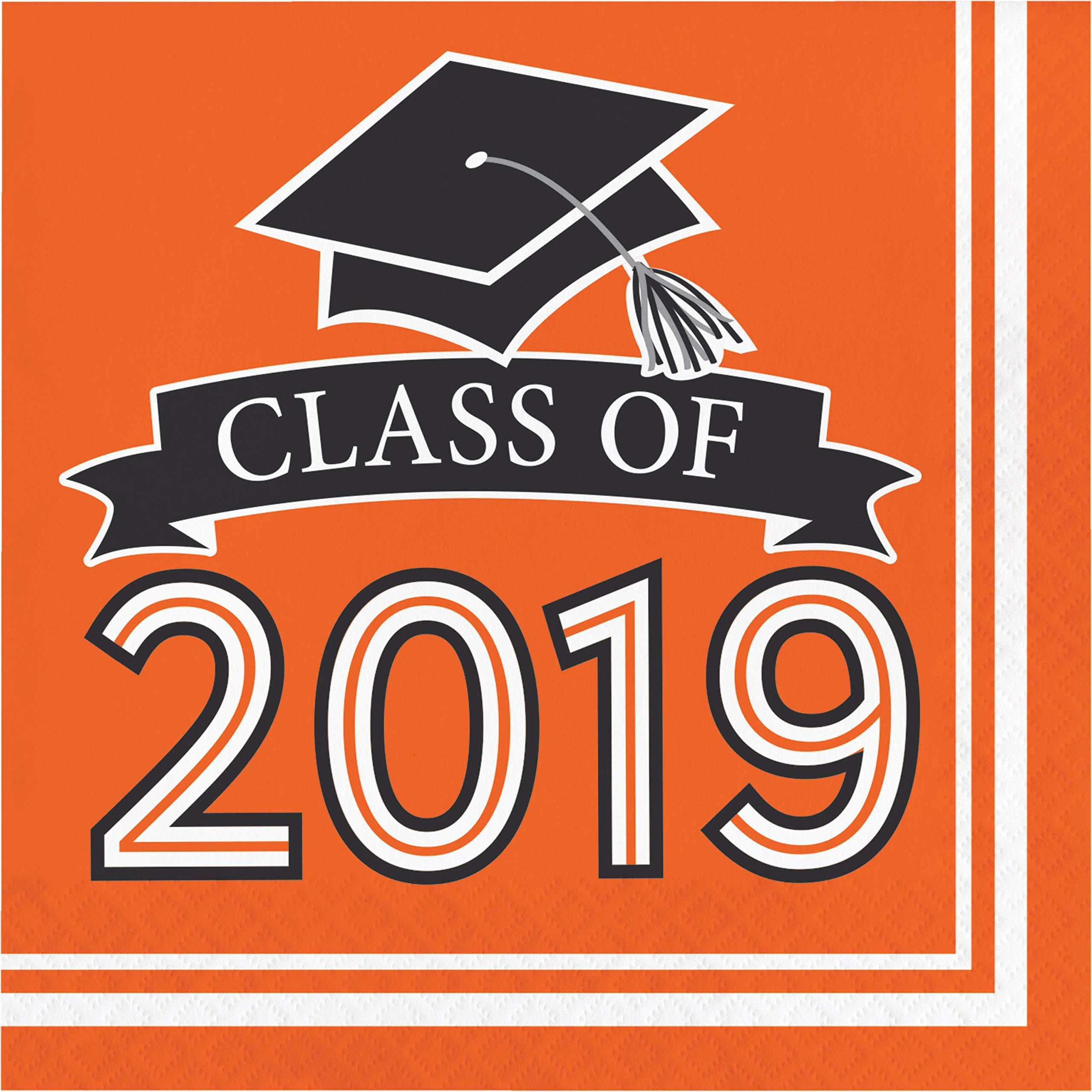 Orange Class of 2019 Napkins, 108 ct