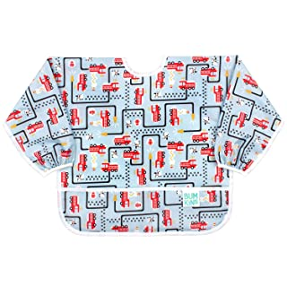 Bumkins Waterproof Sleeved Bib, 6-24 Months, Fire Engine SU-897