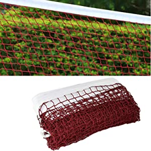 Badminton Net with Steel Cable Ropes for Outdoor Indoor Sports Badminton Replacement Net for Backyard Schoolyard Beach Garden Ground (20FT x 2.5FT)