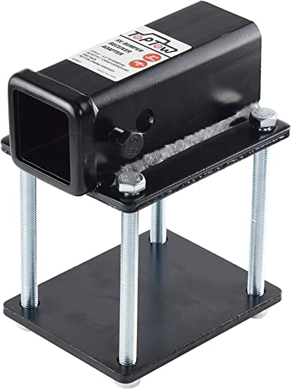 TOPTOW RV Bumper 2 inch Hitch Receiver Adapter 63800 for 4 inch X 4 inch and 4.5 inch X 4.5 inch Bumpers Cargo Carriers Camper-on Fits for Bike Racks