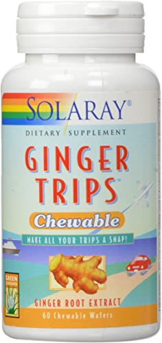 Solaray Ginger Trips Chewable Wafers, 67mg, 60 Count