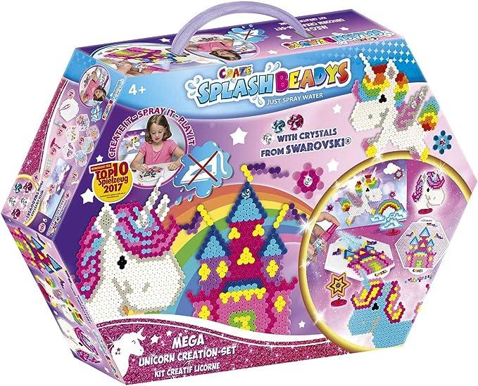 CRAZE- Cuentas Fuse Splash BEADYS Unicorn Juego de creación Toy Fusible de Agua Craft Beads 58498, Multicolor: Amazon.es: Juguetes y juegos