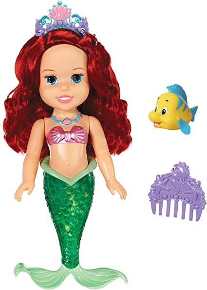 "DISNEY PRINCESS COLORS OF THE SEA ARIEL DOLL 15/"" WITH LIGHTS /& SOUNDS BRAND NEW"