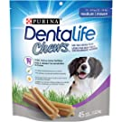 Purina DentaLife Chews Medium Breed Dental Dog Treats - 45 ct Pouch
