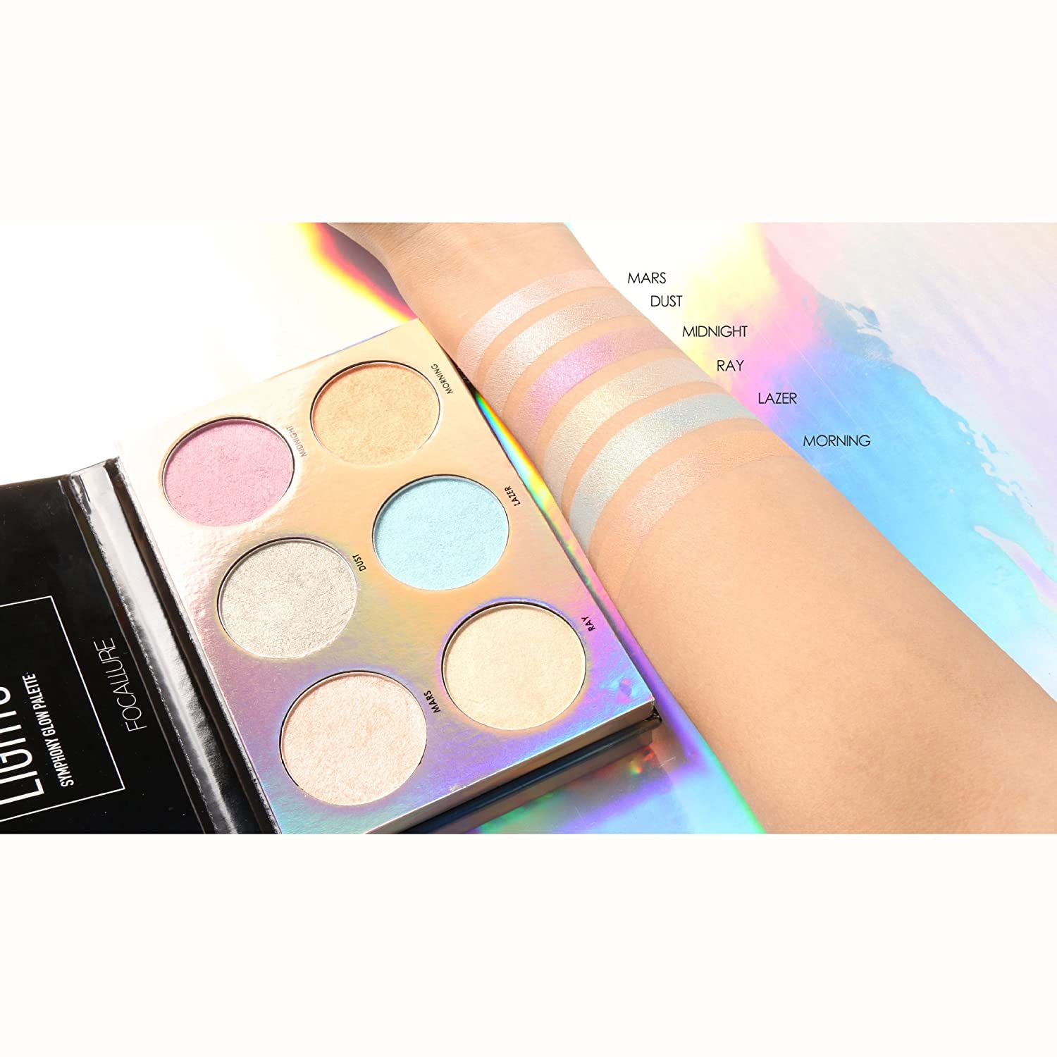 Beauty Essentials Women Makeup Laser Shimmer Bronzing Glow Eyeshadow 3 Colors All Skin Type Palette 3 Colors 3 Years 3 Colors