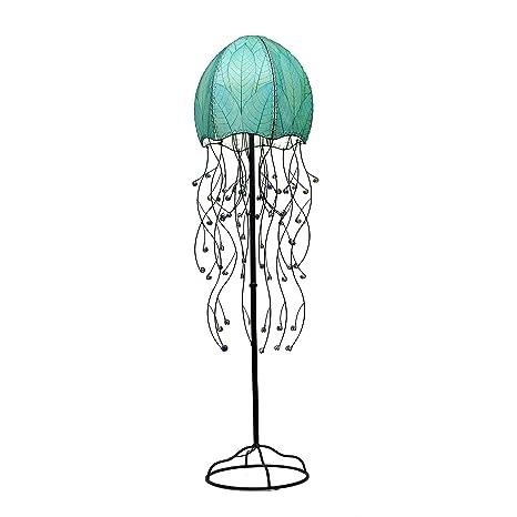 Eangee Jellyfish Series Floor Lamp, 67-Inch Tall (Sea blue ...