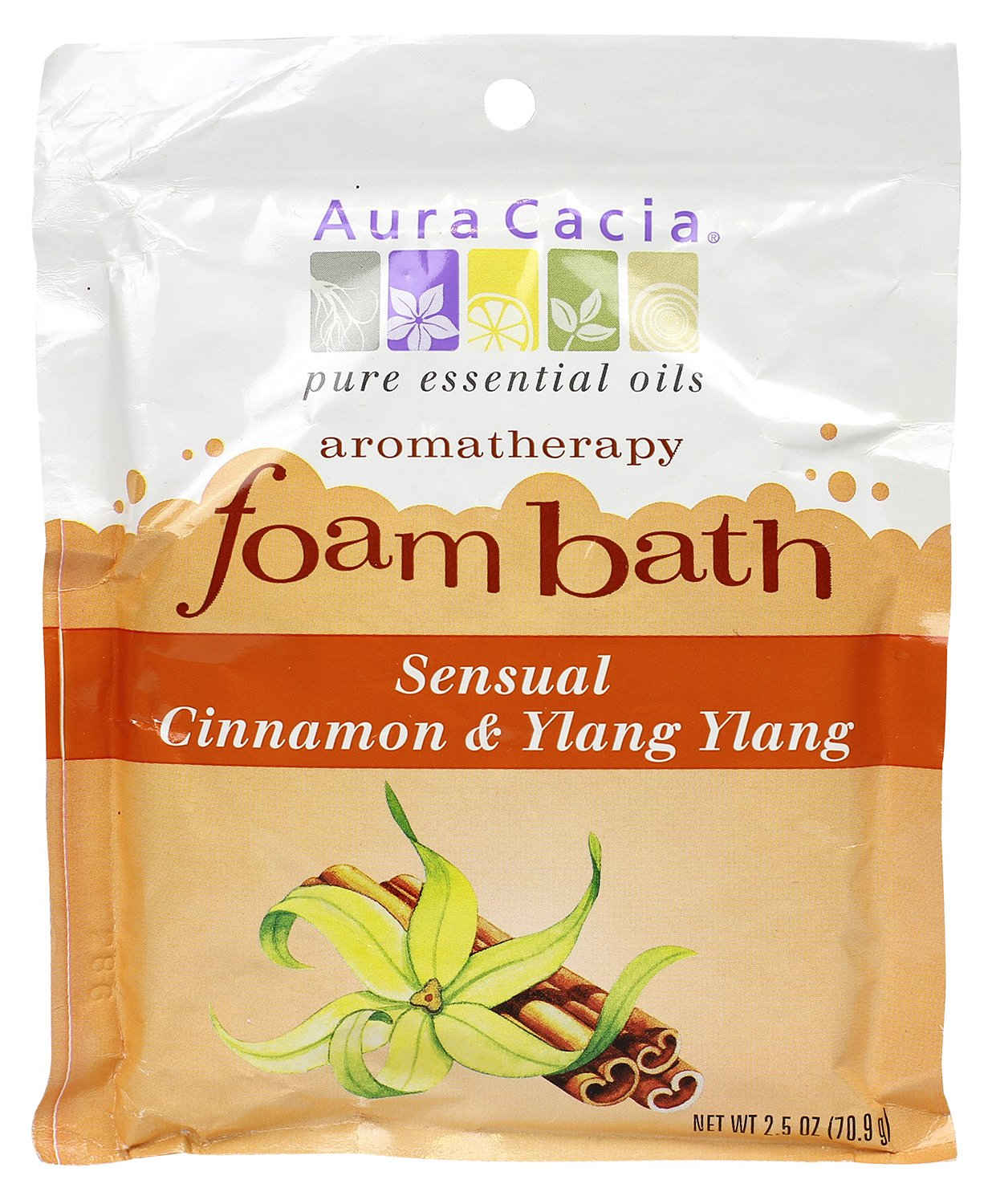 Aura Cacia Aromatherapy Foam Bath, Relaxing Lavender, 2.5 ounce packet (Pack of 3) Aub_0037