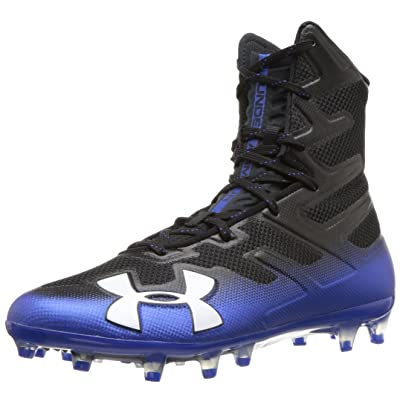 Under Armour Men's Highlight MC Football Shoe, Black (006)/Team Royal, 10 | Football