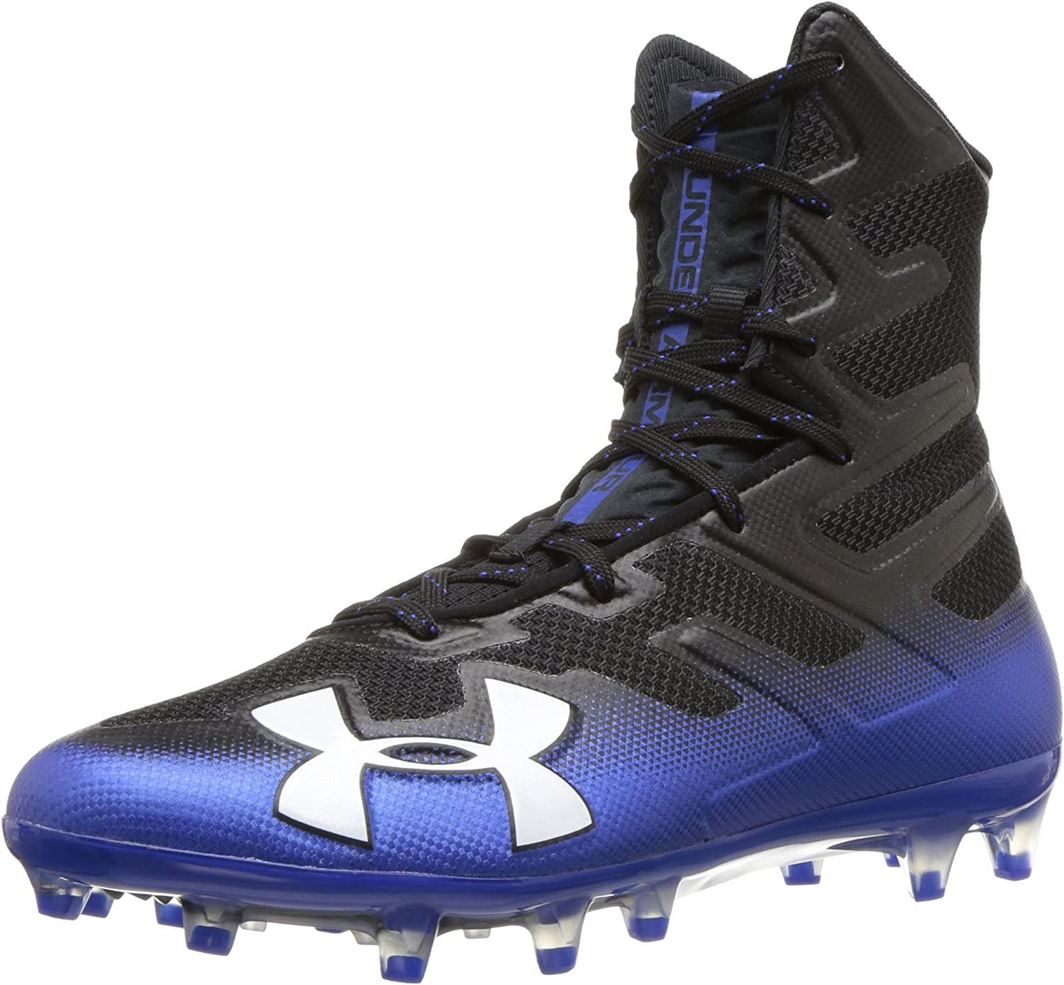 Under Armour Men's Highlight MC Football Shoe, 黒 (006)/Team Royal, 6.5