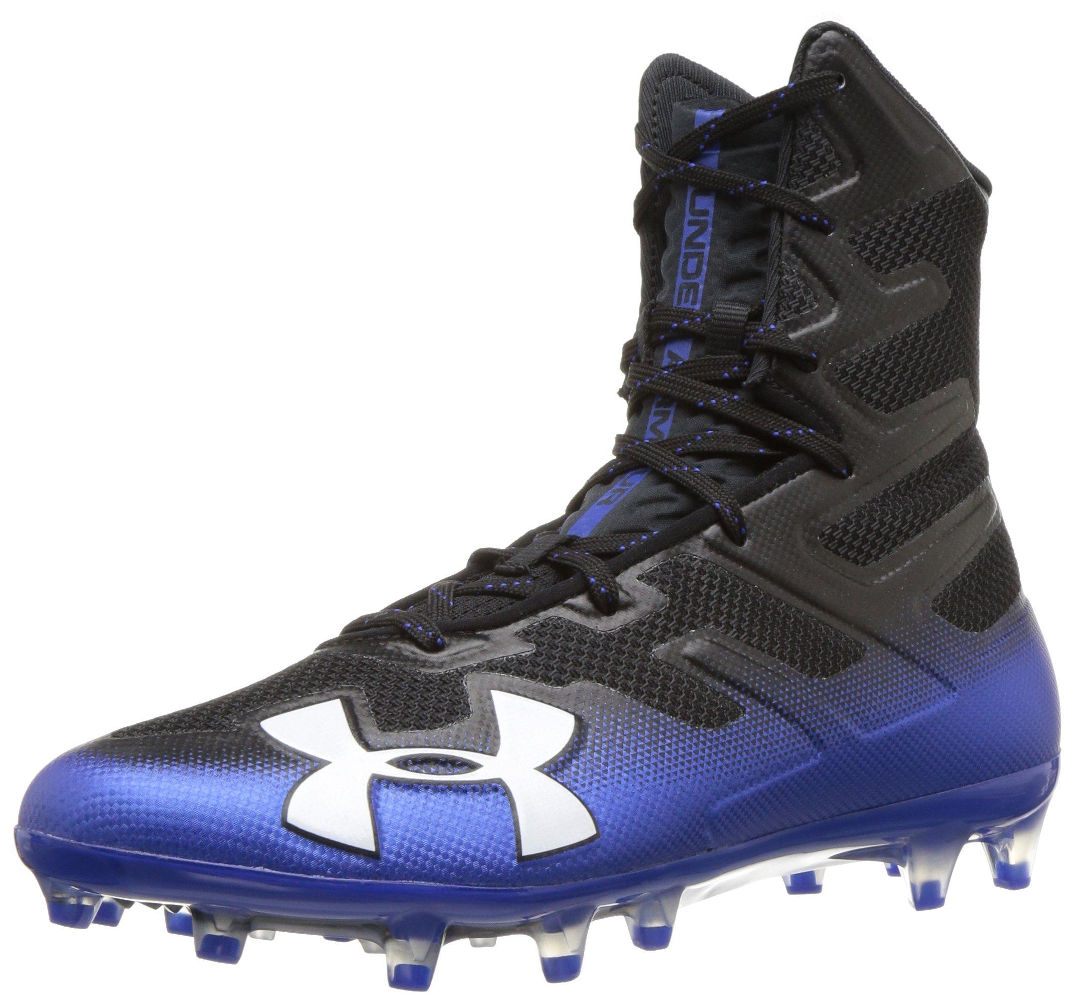 Under Armour Men's Highlight MC Football Shoe, Black (006)/Team Royal, 6.5