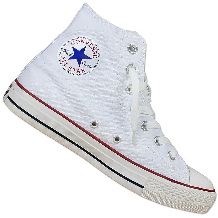 5824b67f5774c Converse All Star Chuck Taylor Hi Toile Blanc Chaussures De Sport Chucks  Sneaker 35-43