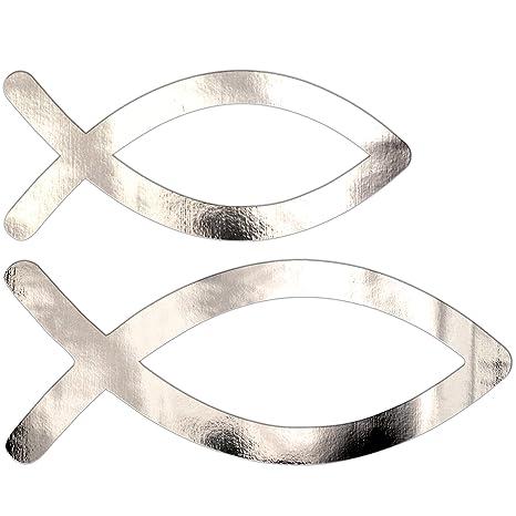 Vsd Vk 50 Stücke Silber Fische Taufe Tischdeko Tischstreu Kommunion Konfirmation Deko Mädchen Junge Streuteile Streudeko