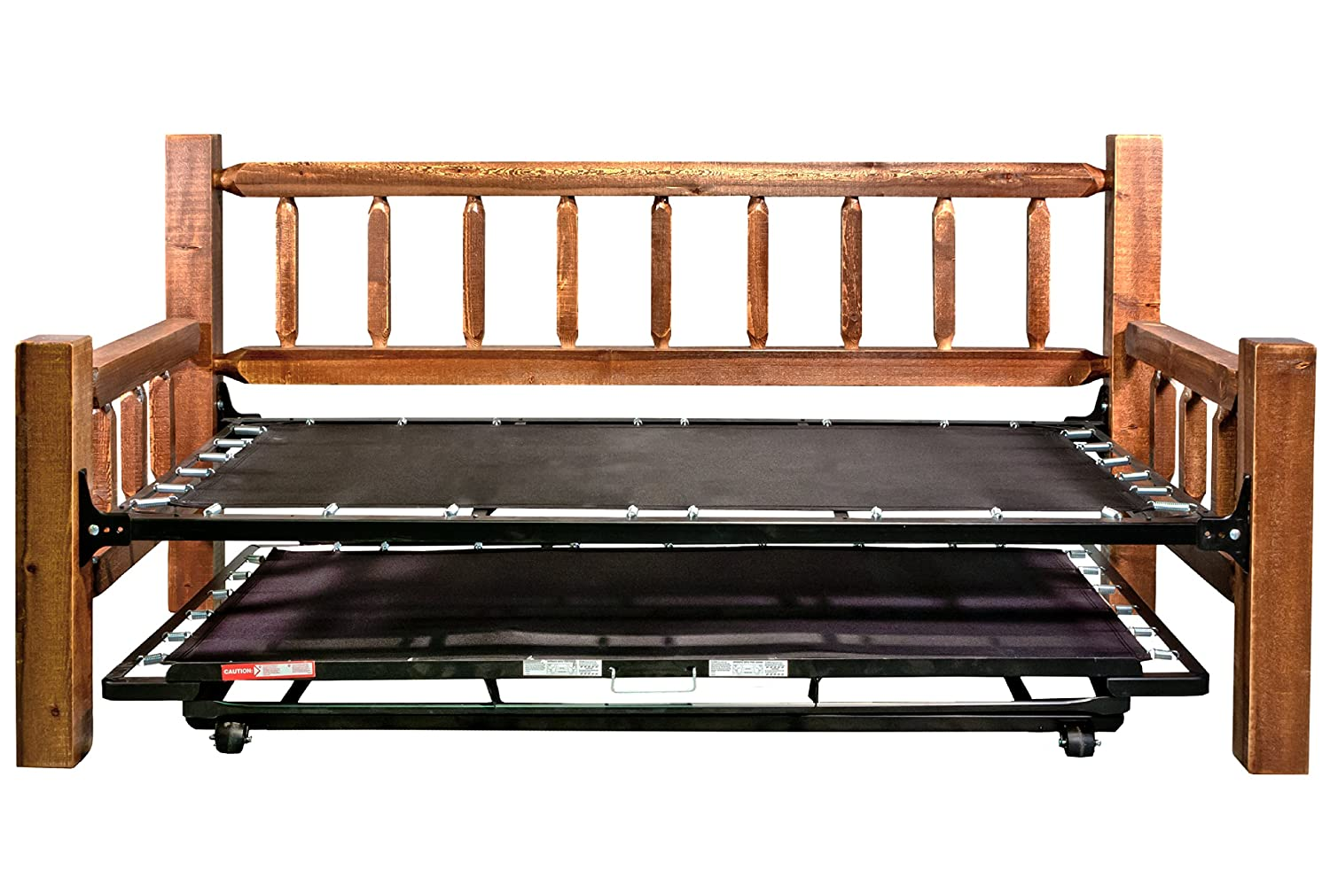 amazoncom montana woodworks homestead collection day bed with pop up trundle bed stain and lacquer finish kitchen u0026 dining