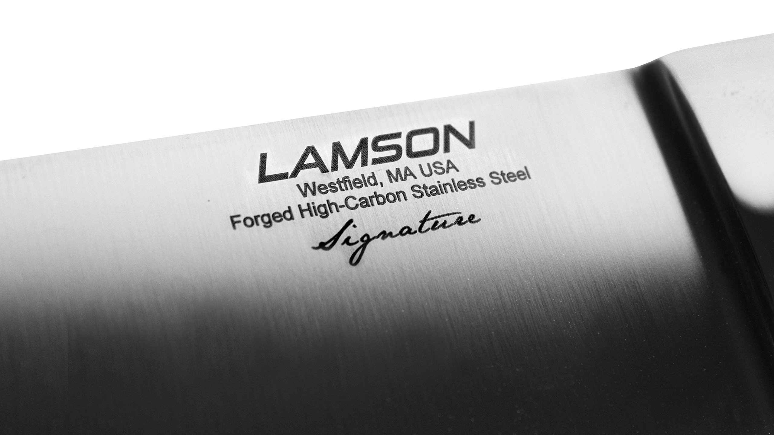 Lamson Slicing Knife - Made in USA - Signature Forged Series - 10-inch Hollow Edge by Lamson (Image #2)