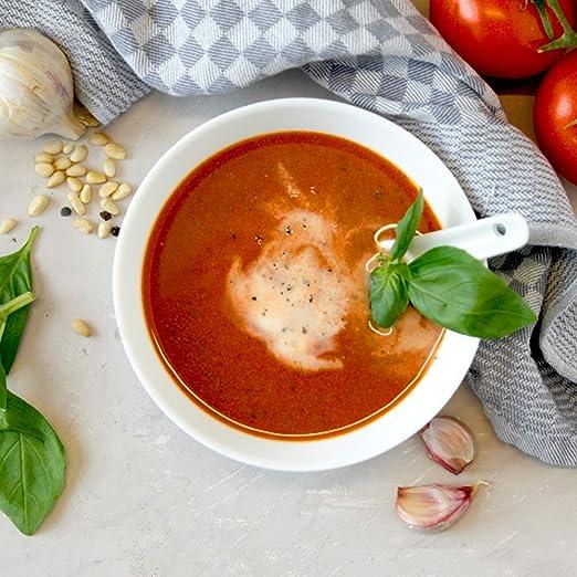 Zwiebel-Tomatensuppe zur Gewichtsreduktion