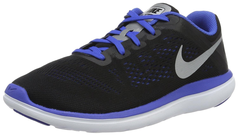 Nike Flex 2016 RN (GS), Zapatillas de Running para Hombre 40 EU|Negro (Negro (Black/Metallic Silver-game Royal-white))