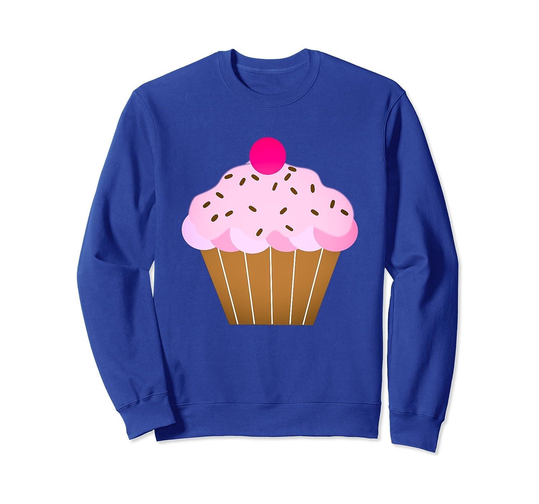 Love Cupcakes Sweatshirt Cute Pink Strawberry Treat-ln