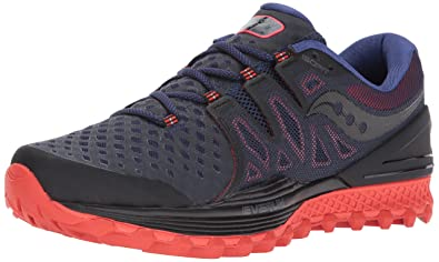 Saucony Men's Xodus ISO 2 Running Shoe, Black Orange, 10 Medium US