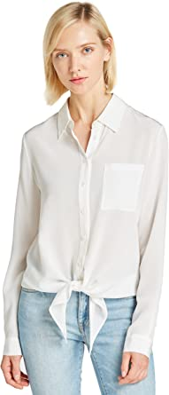Lilysilk Camisa Mujer con Lazo 100% Seda de 18MM, Blanco Natural XXL: Amazon.es: Ropa y accesorios