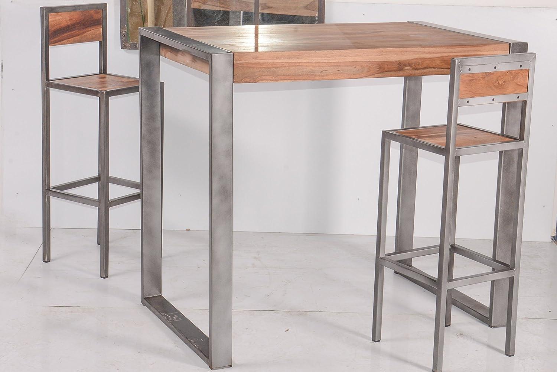 Industry sgabello di bar industriale in metallo e legno&apos mobile