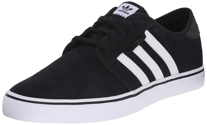 adidas Men's Seeley Skate Shoe 4 M US|Black/White/Black