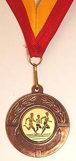Trophiesuk Médaille et ruban de course à pied, 4,5 cm