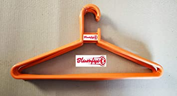 Blumfye Plastic Cloth Hanger   Multicolour  Set of 12