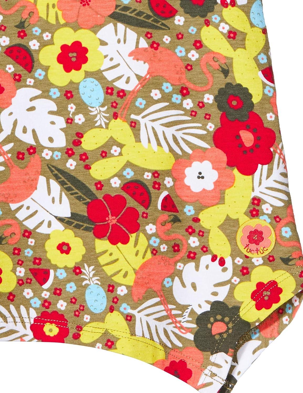 T-Shirt Jersey Stampata Bambina Rossa Tropical Jungle